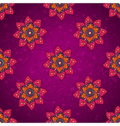 Purple flower pattern vector image