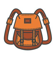 Retro backpack waterprobeige fabric vector