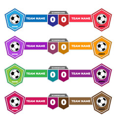 scoreboard elements design for football and soccer vector image