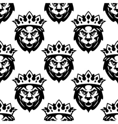 Seamless pattern of a Royal lion vector image