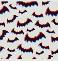 seamless pattern with halloween bats graphics vector image