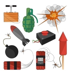 Set of bombs Explosives vector image