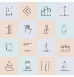 Set of cosmetology line icons vector