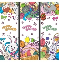 Set of creative multi colour banners for vector image