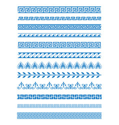 Set of greek patterns and vector