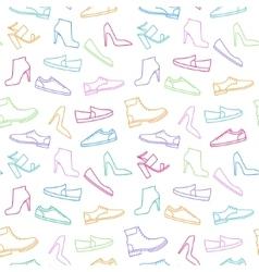 Shoe pattern vector