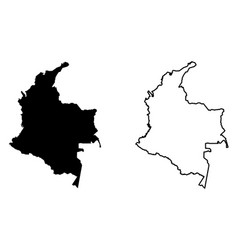 Simple only sharp corners map colombia drawing vector
