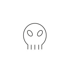 skull linear icon vector image