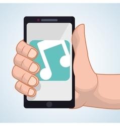 Smartphone design app concept colorful vector
