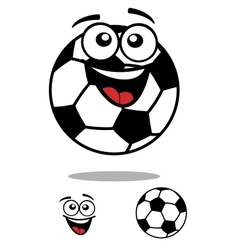 Soccer ball smiling cartoon personage vector