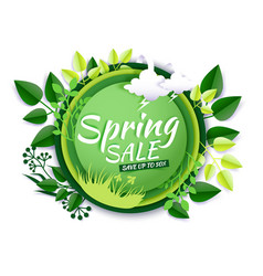 spring sale promotion banner poster paper vector image