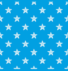 starfish pattern seamless blue vector image