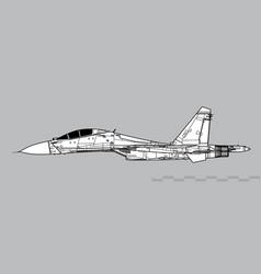 Sukhoi su-27 flanker vector