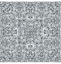 television noise glitch mandala pattern vector image