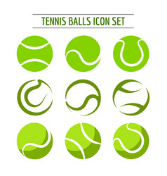 Tennis balls icon set vector