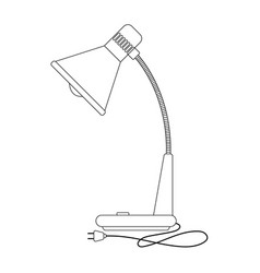 the of retro table lamp vector image