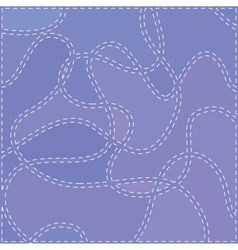 The Seams on Blue Fabric vector image