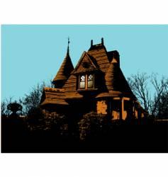 Victorian house vector