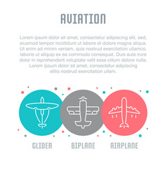 Website banner and landing page aviation vector