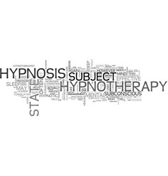 what is hypnotherapy and how does it work text vector image