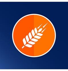 Wheat ear technical logo template Construction or vector