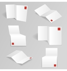 White accordion paper different points view vector
