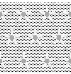 White daisy flower on black dots textured pattern vector