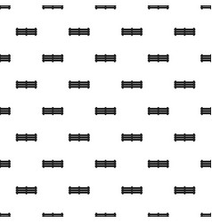 Wide fence pattern seamless vector