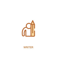 writer concept 2 colored icon simple line element vector image
