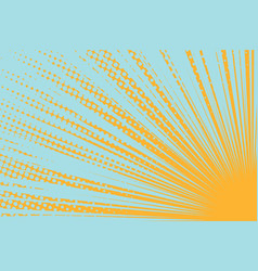 Yellow sun on a blue background vector