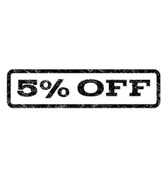5 percent off watermark stamp vector image vector image