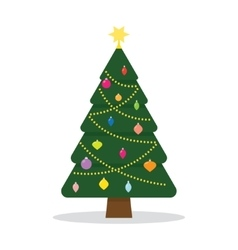 Christmas tree with decorations vector image