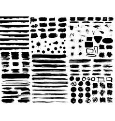 large set of hand drawn grunge elements isolated vector image