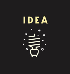 light bulb icon idea concept vector image vector image