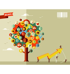 Marketing business tree vector image
