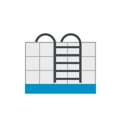 Stairs of the swimming pool flat icon vector image