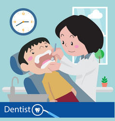 dentist chair during a dental vector image