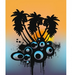 tropical trees vector image