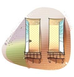 Window Balcony Background vector image vector image
