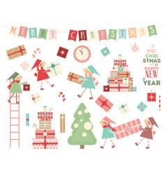 christmas characters vector image
