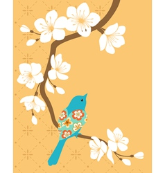 Sakura branch vector image vector image