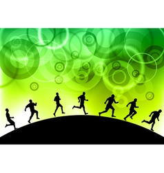 black silhouettes of runners vector image
