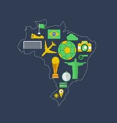 Brazil worldcup event flat design vector image