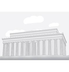 Lincoln Memorial Center Washington DC vector image