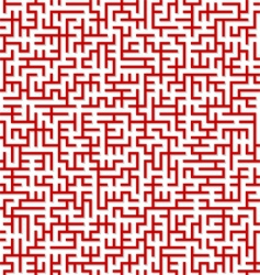 maze pattern vector image vector image