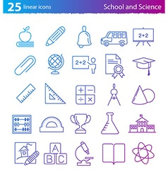School education and science icons set vector image vector image