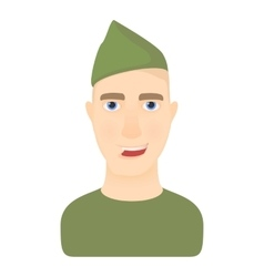 Soldier icon cartoon style vector image