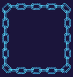 abstract chain frame vector image