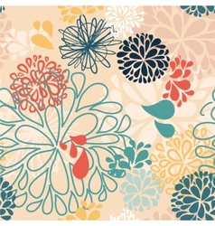 Abstract colorful doodles flowers vector