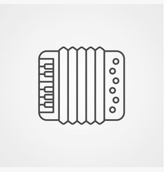 Accordion icon sign symbol vector